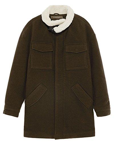 ZARA Abrigo con cuello falso (XL)