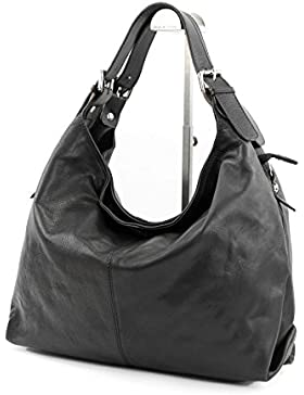 modamoda de - ital. Ledertasche Schultertasche Damentasche Tragetasche Handtasche Nappaleder T31