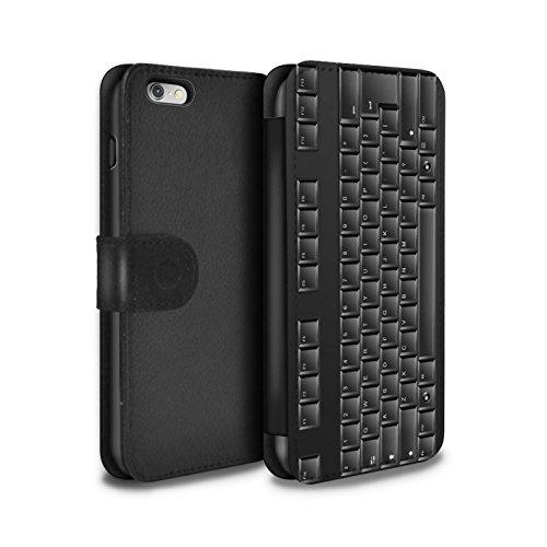 Stuff4® PU-Leder Hülle/Case/Tasche/Cover für Apple iPhone 6+/Plus 5.5 / Tastatur Muster/Schaltfläche/Tasten Kollektion - Iphone-tastatur-case