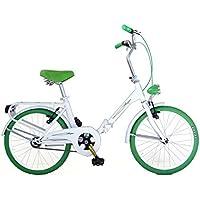 "FREJUS MICROBIKE Graciella 20"" - Vélo Pliant Unisex 1 Vitesse, Acier, Blanc/Vert"