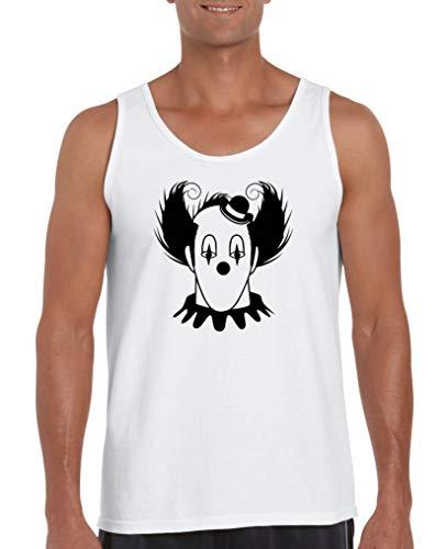 Comedy Shirts - Halloween Clown - Herren Tank-Top - Weiss/Schwarz Gr. XL