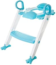 Vepson Froggie Foldable Plastic Potty Training Seat Stool Boys Girls Toddler With Toilet Ladder Step Up Training Stool