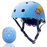 Exclusky Kinder/Kinder/Kinder Fahrradhelm CE Zertifiziert für Multi-Sport BMX Skateboard Roller Helm Alter 3-8 Jahre Jungen Mädchen (helles Blau)