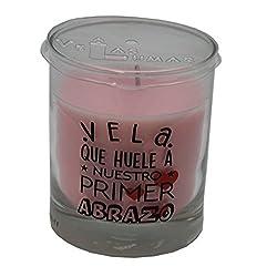 Vela perfumada con olor a...