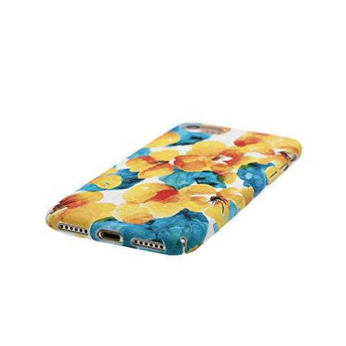 iPhone 7 Plus Custodia, | TPU Case Cover protettiva antiurto TPU Resistente ai graffi Shell Skin | Giovane modello | Copertura per iPhone 7 Plus - fiore - Per ragazze signore Color 4