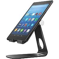 MoKo Soporte para Kindle Fire Tablet/E-Reader,Titular de Aluminio Giratorio de ángulo múltiple de 210°para Kindle Fire 7 2017/ HD8 2017/ HD10 2017/Kindle Paperwhite/Oasis 2017/Voyage, Negro