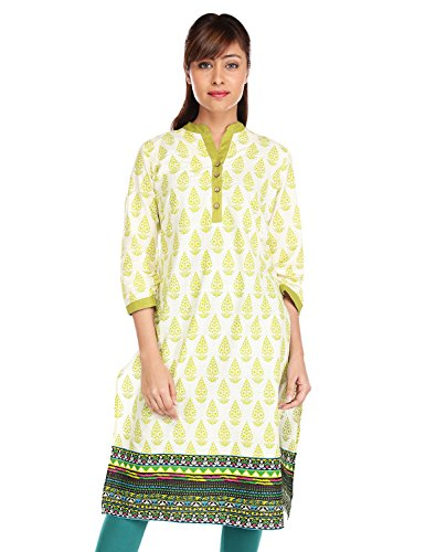 Pink almirah Women Green Printed Kurta  available at amazon for Rs.319