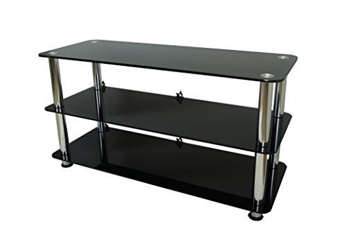 Mountright Ums1 Black Glass Tv Stand For Led Lcd & Plasma Television (For Tv's: 26 Up To 40 Inch)