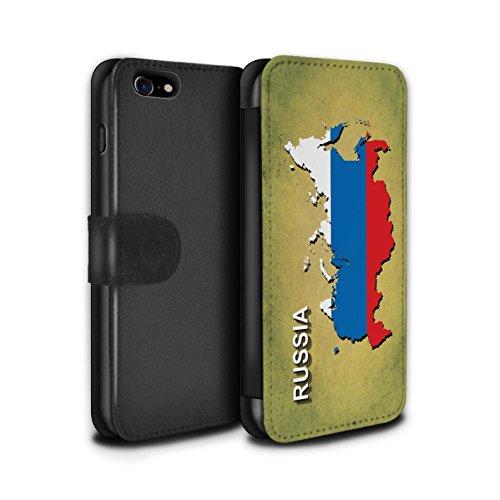 Stuff4 Coque/Etui/Housse Cuir PU Case/Cover pour Apple iPhone 5C / Italie/Italien Design / Drapeau Pays Collection Russie/Russe