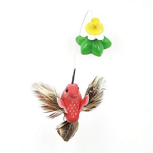 AILOVA Giocattolo per Gatti Automatico Elettrico Rotante colorato a Forma di Farfalla, Uccellino, in plastica, Divertente, Giocattolo interattivo per addestramento