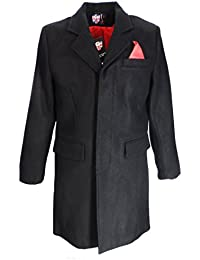 Warrior Men`s Overcoat Black With Red Lining (xx large)