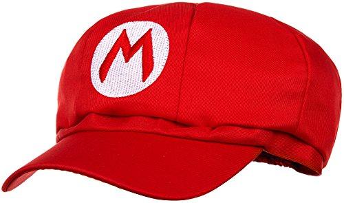 (Super Mario Mütze Rot Für Erwachsene Und Kinder Karneval Fasching Verkleidung Kostüm Mützen Hut Cap Herren Damen Kappe)