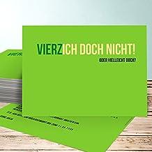 Einladungskarte 40 Geburtstag, Vierzich 5 Karten, Horizontal Einfach  148x105 Inkl. Weiße Umschläge,