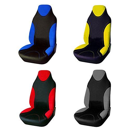 Sue-Supply Sitzbezüge für Auto Einzelsitzbezug Vordere Schonbezüge Sitzbezug Universal Sitzbezug Schonbezug Autositz, Grau/Blau/Rot/Gelb (Grau)