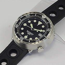 WDXDP Montres Bracelet Montres De Plongée Automatique en Acier Inoxydable Hommes Automatique 30Bar