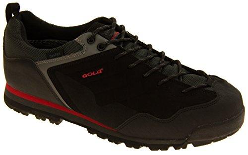 Uomo GOLA impermeabile DRI-TEX Escursionista Stivali Trainer Nero