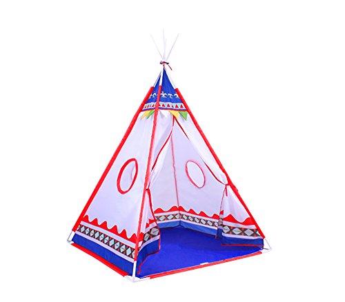 Spielzelt-fr-Kinder-tipy-Indianer-Zelt-fr-Kinder-in-Rot-und-Blau-komplett-mit-Tragtasche