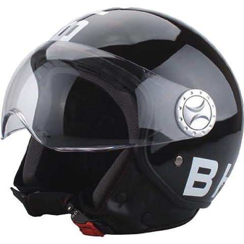 BHR 50171 Demi-Jet Casco, Diseño Negro, Talla XL, 61 cm