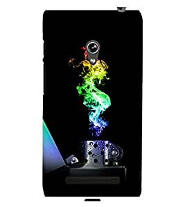 printtech Colored Flame Lighter Back Case Cover for Asus Zenfone 5::Asus Zenfone 5 A500CG