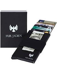 Fur Jaden Black Anti theft RFID Blocking Credit Card Case
