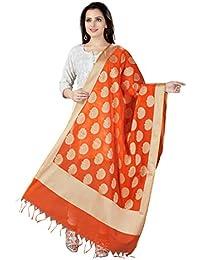 Rani Saahiba Art Cotton Silk Woven Banarasi Dupatta