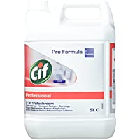 Cif Professional Badreiniger 2in1 Reiniger und Entkalker, auch für verchromte Oberflächen, Kunststoffe mit Keramik