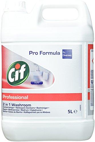 Cif Professional 7517831 Badreiniger 2in1 Reiniger und Entkalker, auch für verchromte Oberflächen, Kunststoffe mit Keramik, 5 L