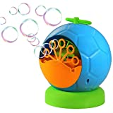 Trendario Seifenblasenmaschine Für Kinder & Erwachsene im Fussball Design, 500 Seifenblasen pro Minute, ideal für Party, Hochzeit, Deko, Geburtstag