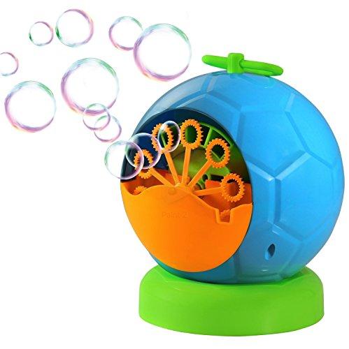 Trendario Seifenblasenmaschine Für Kinder & Erwachsene im Fussball Design, 500 Seifenblasen pro Minute, ideal für Party, Hochzeit, Deko, (Bubble Party Maschine)