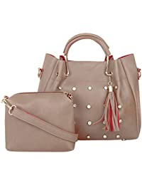 TYPIFY® Leatherette 2Pcs Combo Sling Handbag for Women and Girls College Office Bag, Stylish latest Designer Spacious Shoulder Tote Bag Purse. Gift for Her