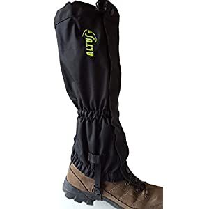 41vqFXa7vEL. SS300  - ALTUS Gaiter Boots Outdoor Long Black Extremely Robust Size Small-Medium * NEW *