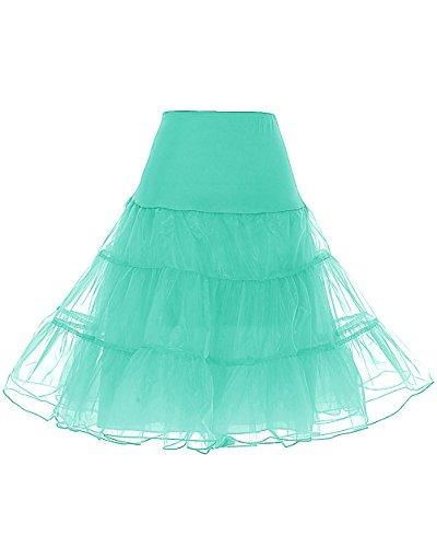 Dresstells Jupon années 50 Vintage en Tulle Rockabilly Petticoat Longueur 66cm/26,Mint M