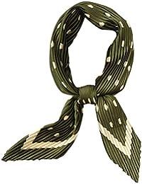 DAMILY Petit Foulard à Pois Plissés en Soie Foulard Ruban Cheveux Vintage Printemps  Carré ... 0efcdf4b1f4