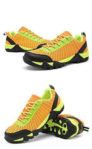 arrampicata all'aperto Scarpe da passeggio correnti di sport di campeggio bike scarpe da trekking uomo arancione
