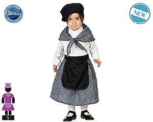 Atosa-63588 Atosa-63588 - Disfraz de niña vieja, 63588, gris, 24 meses