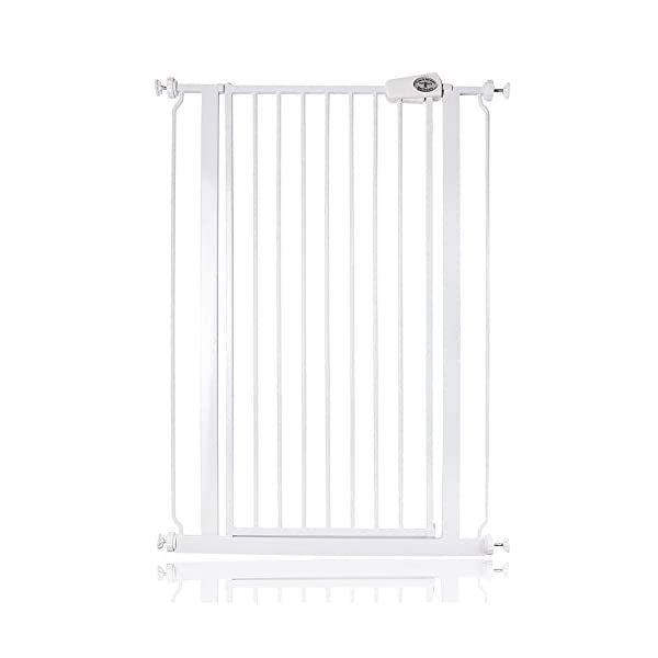 Bettacare Child and Pet Gate, 75-83 x 104 cm, White Bettacare Extra tall gate to make an effective barrier for pets Standard tested for children , Depth of gate frame 1.5 cm Patented-double locking system / pinch-free hinge 1