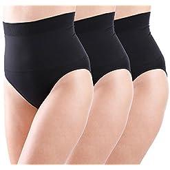 Bingrong Womens High Waist Cincher Trainer Tummy Control Lace Seamless Panties Butt Lifter Hourglass Body Shaper Corset Underwear