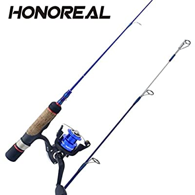 Winter Ice Fishing Combo, Lightweight Fishing Rod and Reel Combos Set for Saltwater and Freshwater Ultra Light Fish Fishing Rods Poles by Dinglong