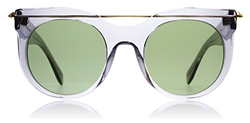 Alexander McQueen Damen AM0001S 002 52 Sonnenbrille, Grau (002-Grey/Green)