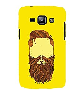 HiFi Designer Phone Back Case Cover Samsung Galaxy J1 (2015) :: Samsung Galaxy J1 4G (2015) :: Samsung Galaxy J1 4G Duos :: Samsung Galaxy J1 J100F J100Fn J100H J100H/Dd J100H/Ds J100M J100Mu ( Beard No shave November Yellow )