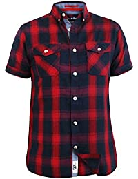 D555 Men/'s Elias Regular Short Sleeve Check Shirt S /& M