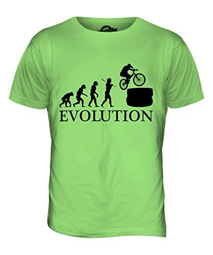 CandyMix Mountainbike Evolution Des Menschen Herren T Shirt Limettengrün