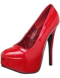 Eu-pleaser Teeze-01 - Chaussures À Talons En Plastique Femme, Rose, Taille 36