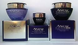 Avon Anew Platinum : Eye & Lip Cream + Day Cream + Night Cream Set !