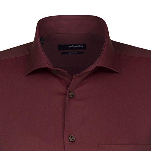 Seidensticker -  Camicia classiche  - Basic - Classico  - Maniche lunghe  - Uomo rot (0049)
