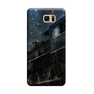 Desicase Samsung Note 7 Star Train 3D Matte Finishing Printed Designer Hard Back Case Cover (Blue)