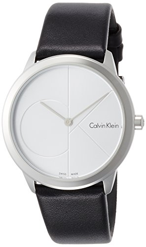 Calvin Klein Women's Analogue Quartz Watch with Leather Strap K3M221CY