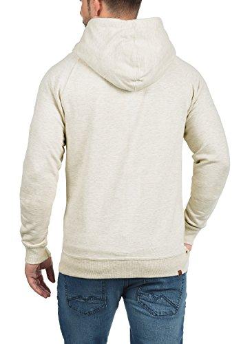 BLEND Speedy Herren Sweatjacke Zip-Hoodie mit Kapuze und optionalem Teddy-Futter aus einer hochwertigen Baumwollmischung Meliert Sand Mix (70810)