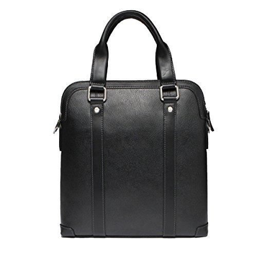 Yy.f Uomo Borsa Fashion Business Borse Da Uomo In Pelle Da Uomo A Spalla Diagonale Grande Capacità Virtualmente Nera