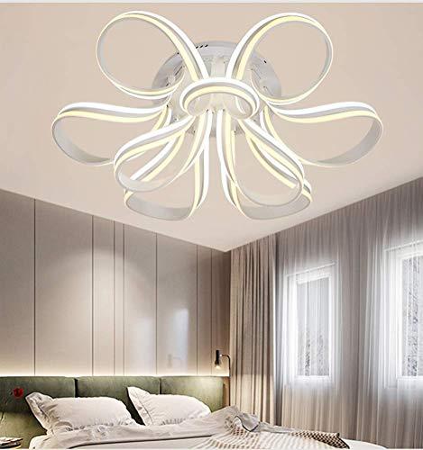 C-LT Deckenleuchten Leuchten Deckenleuchten Beleuchtung 155W Quadrat Led Kristall Deckenleuchte Hall Kronleuchter Hohe Helligkeit Tricolor Licht für Schlafzimmer Esszimmer Beleuchtung, Farbe - Hohe Kristall-kronleuchter
